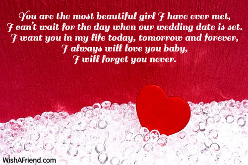 I Want You Forever Poem For Girlfriend
