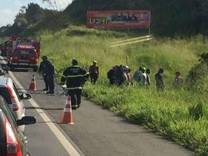 Vítima foi socorrida pelo Samu até o Hospital Regional, em Santo Antônio de Jesus (Foto: Bia Casagrande / Voz da Bahia)