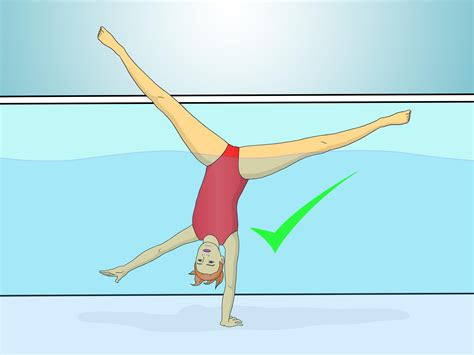 handstand   pool  pictures wikihow