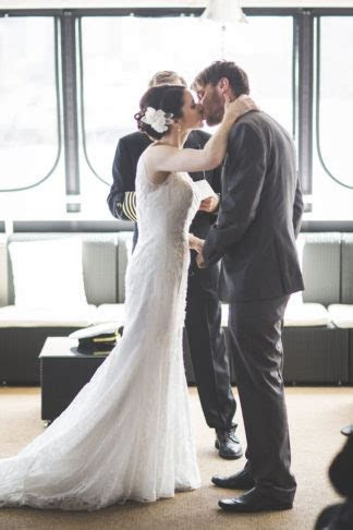 A Beautiful New York Harbor Yacht Wedding