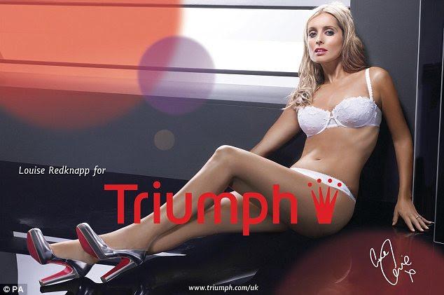 2007: Louise Redknapp é revelado como o novo rosto da Triumph