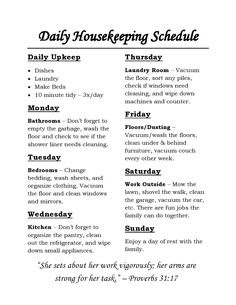 Complete Housekeeping Printable Set!   Mom, Awesome and Working moms