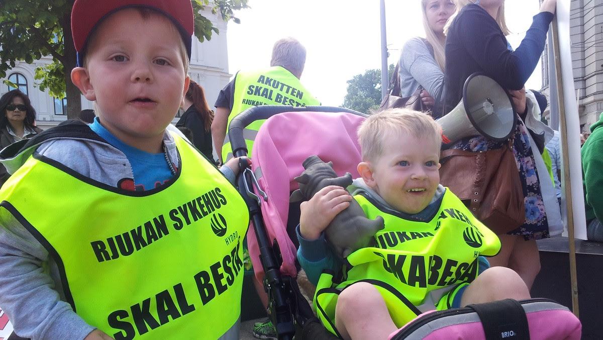 Sykehusdemonstrasjon i Oslo - Foto: Maria Alette Abdli / NRK