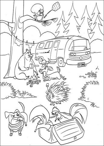 Dibujo De Boog En El Bosque Para Colorear Dibujos Para Colorear