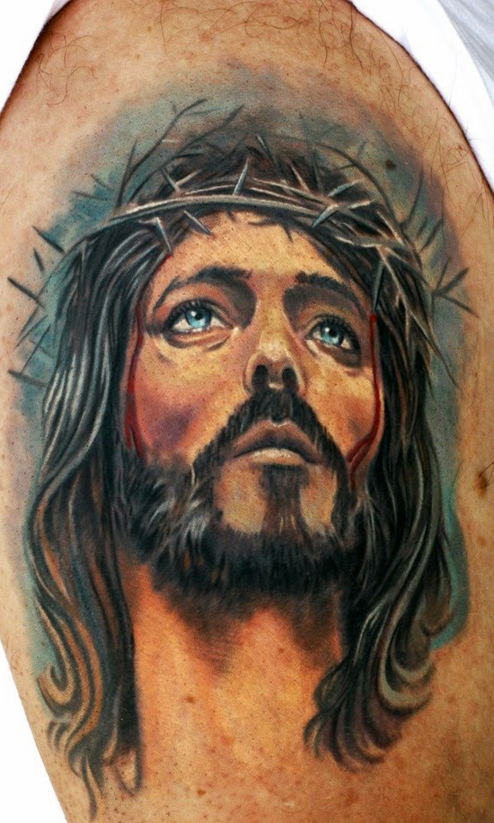 Sad Jesus Realistic Religious Tattoo Best Tattoo Ideas Gallery