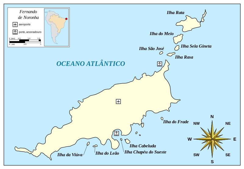 Ficheiro:Map of Fernando de Noronha-pt.svg