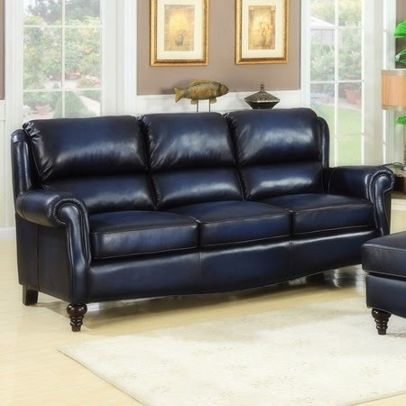 Leather And Bonded Leather Sofas Blue Leather Furniture