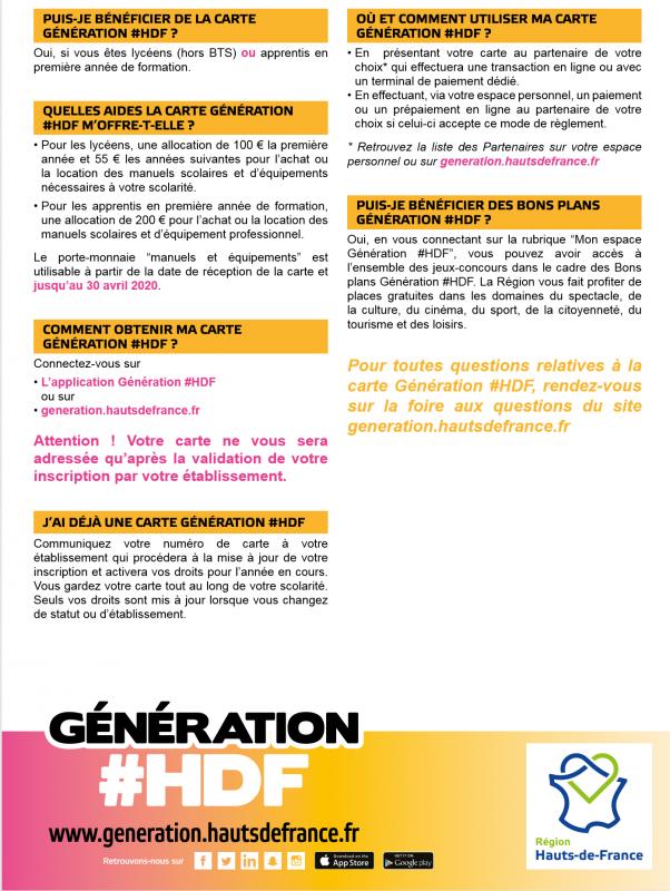 Carte Generation Hdf 2019