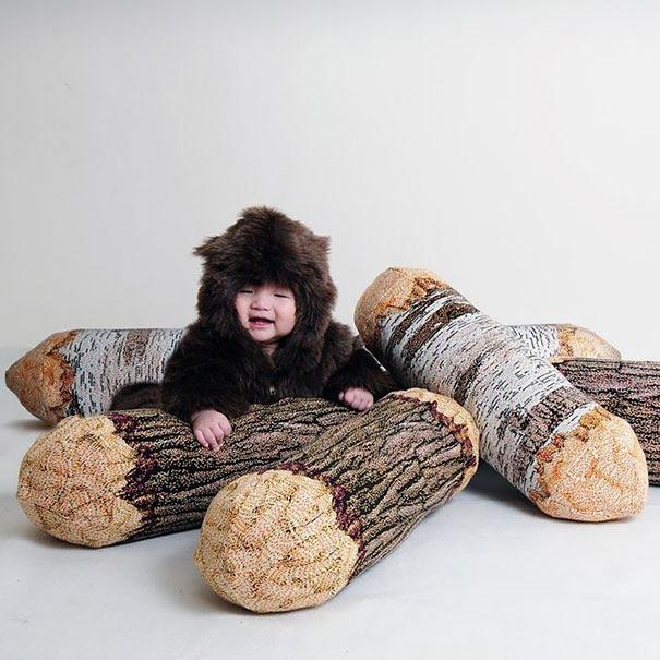 Tree Log Bolster Pillow
