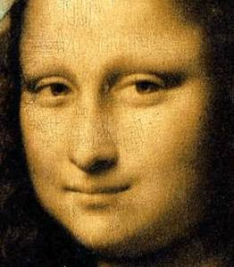 The Mona Lisa has no eyebrows. It was the fashion in Renaissance Florence to shave them off.