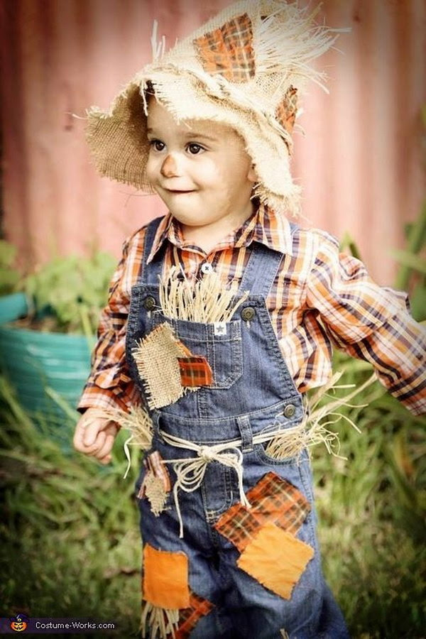 Cute Scarecrow Baby Costume.