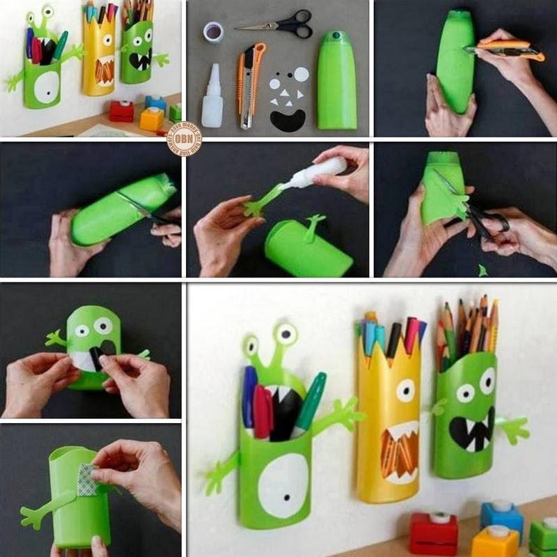 DIY Shampoo Bottle Pencil Holder | The Owner-Builder Network