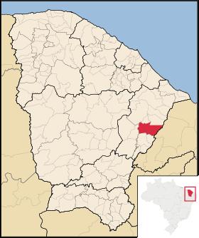Localização de Alto Santo