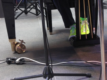 have competition from the pianist's shoes
