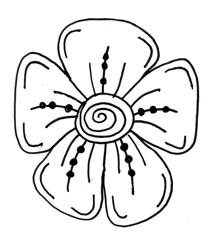 Cool Pictures Of Flowers To Draw Clipart Best