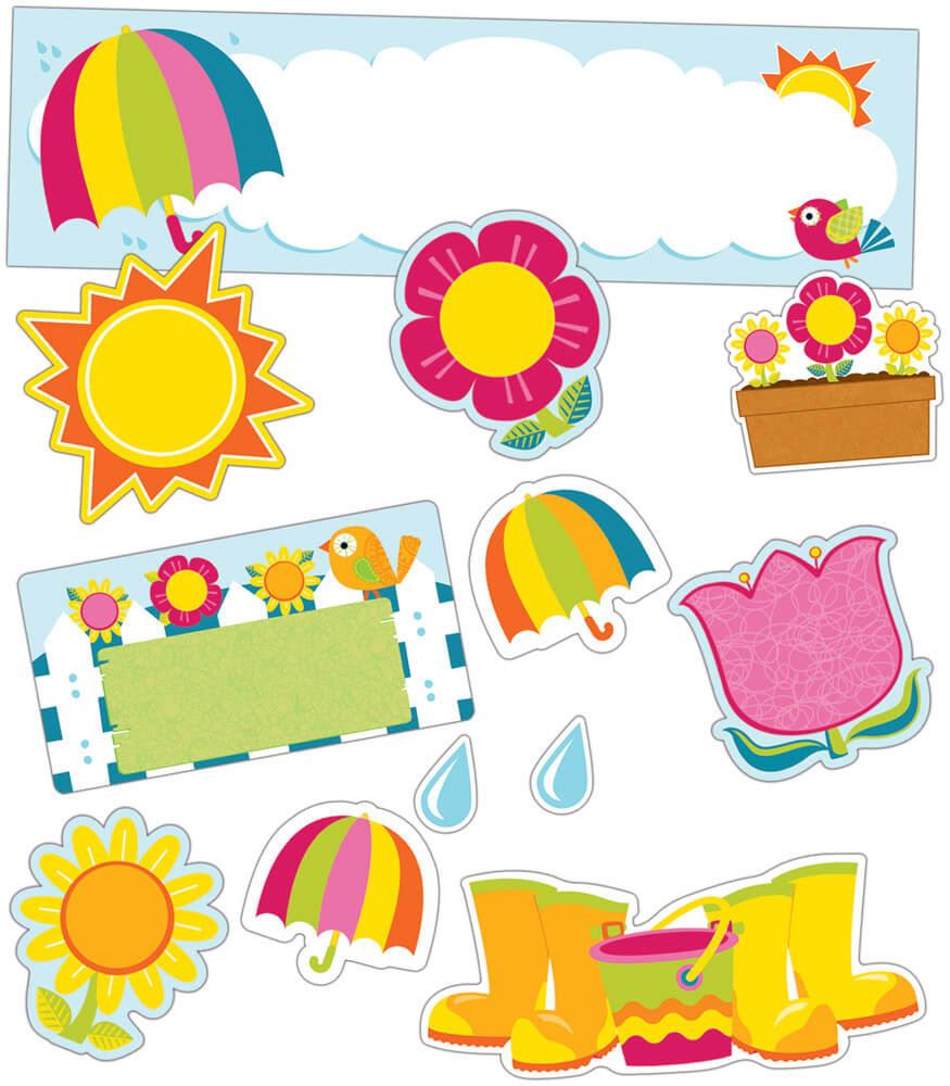 Spring Mini Bulletin Board Set