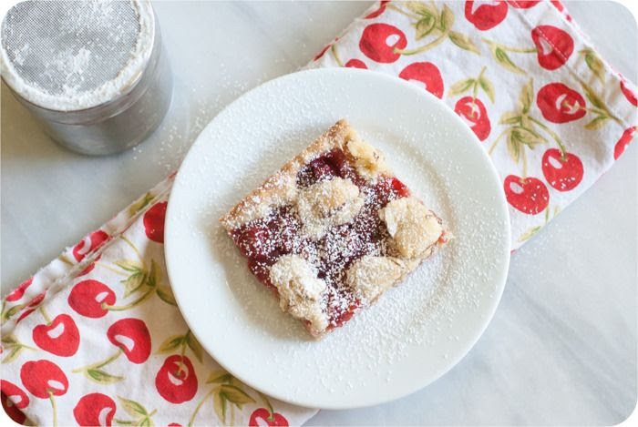 cherry pie bars :: like sugar cookie bars and a cherry pie got married ♥
