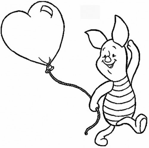Winnie The Pooh And Piglet Coloring Pages At Getdrawingscom Free