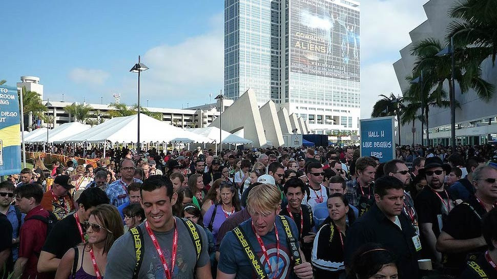 Image result for waiting in line comic con