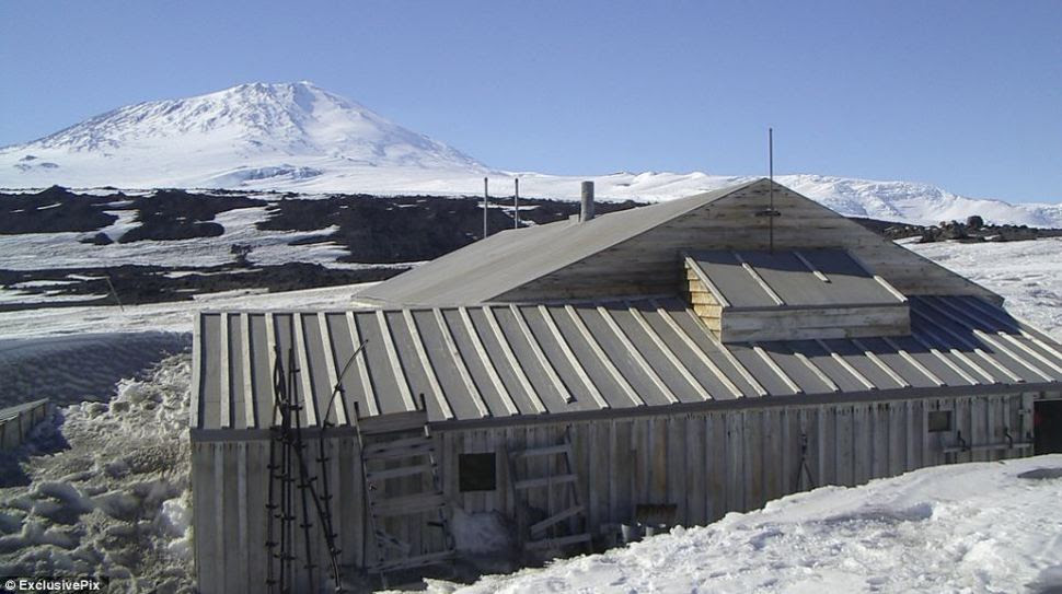 This hut was used as a base in Scott's Terra Nova Expedition (1911-12). After the party died from extreme cold, starvation, and exhaustion on their return journey to the South Pole, the well-stocked hut they were attempting to reach has been left untouched. [Antarctica]