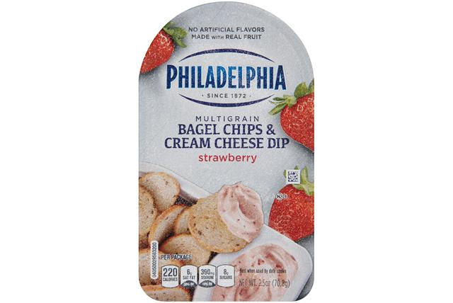 Philadelphia Strawberry  Bagel Chips & Cream Cheese Dip Cheese Snacks 2.5 Oz