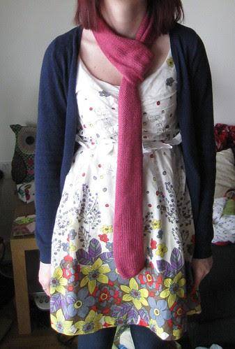 Stocking stitch scarf