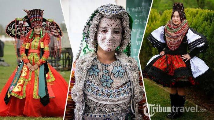 12 Foto baju pengantin wanita di seluruh dunia ini unik