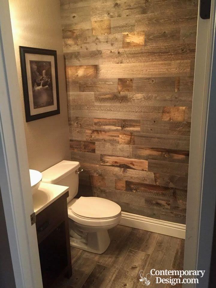 Small half bathroom decorating ideas - Contemporary-design
