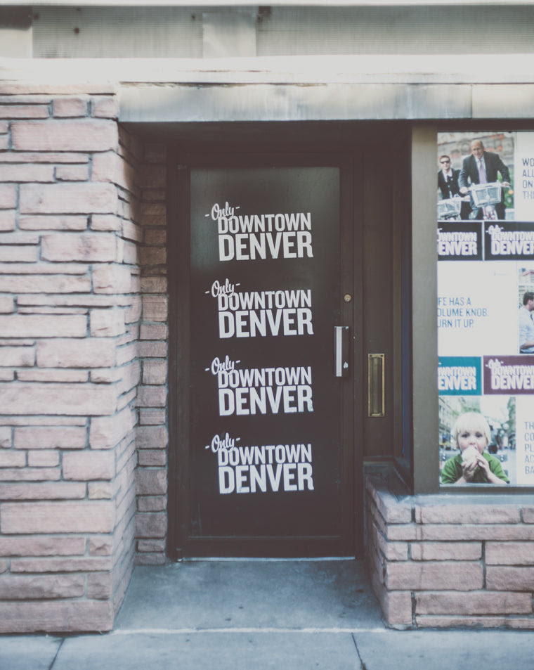 photo of side door downtown streets of denver