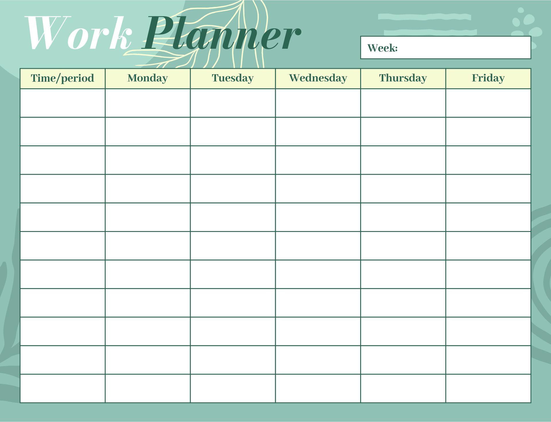 7 Best Images of 5 Day Work Week Monthly Calendar Printable - 5 ...