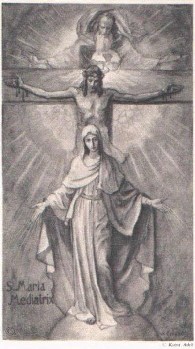 Image result for catholic mary on a cross