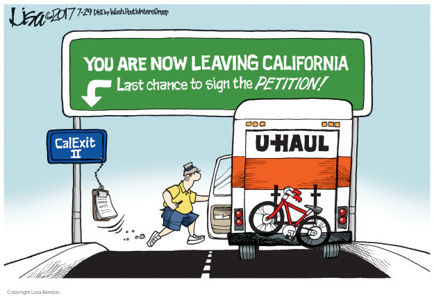 Image result for california leaving cartoons