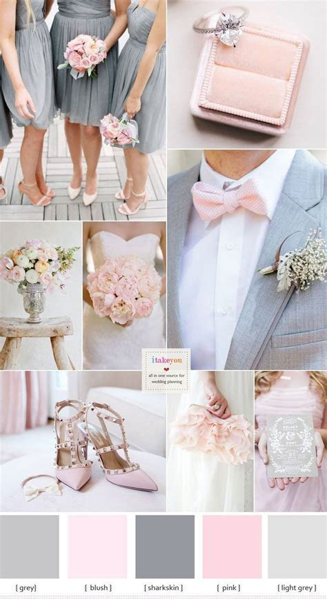 Grey and Pink Wedding Colour Schemes   Spring: Wedding