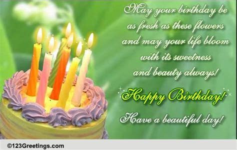 Fresh Flowers To Wish Happy B'day! Free Flowers eCards