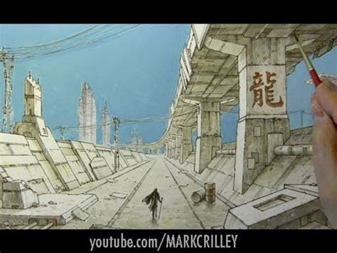mark crilley time lapse drawing dystopian cityscape
