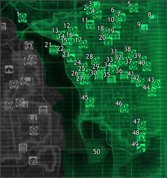 Sector  Maps Of The World Fallout 3 Game