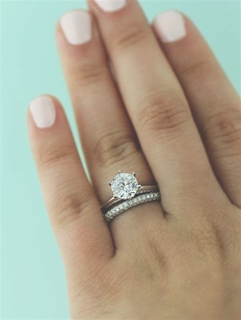 Elegant Wedding Bands to Match solitaire Engagement Ring