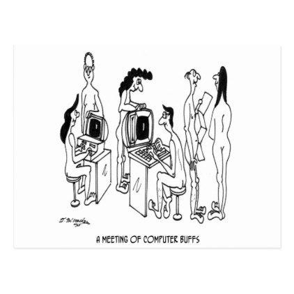 Computer Cartoon 4130 Postcard