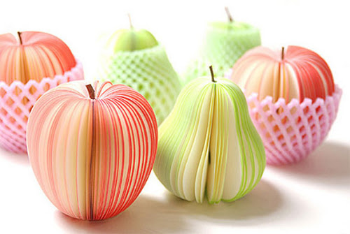 Beautiful Sliced Fruit-Shaped Adhesive Notes