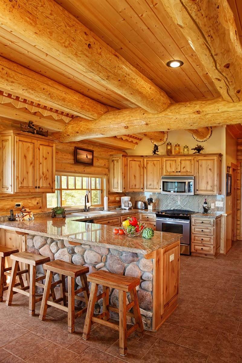 Beautifully Natural Log Home Interiors - Page 2 of 4