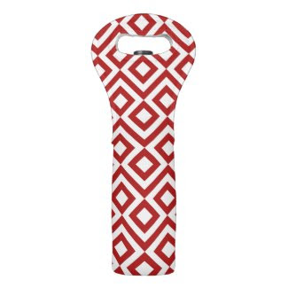Red and White Meander Wine Bags