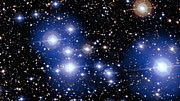 Close up view of the bright star cluster Messier 47