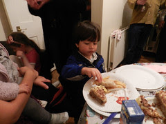 At little R's 5th birthday party