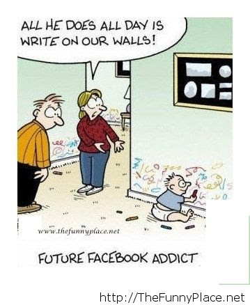 Facebook Addict Kid In The Future Funny Image 1025306 By