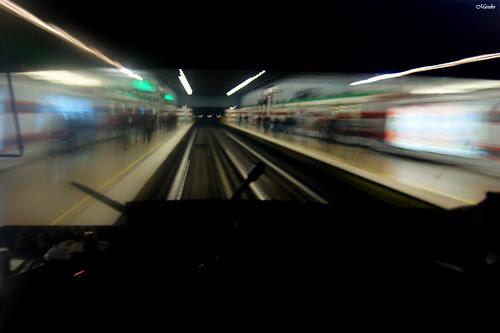 Street photography, metro de Santiago by Alejandro Bonilla