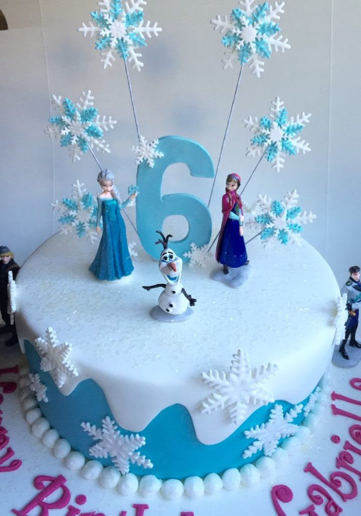 Frozen Birthday Cake Decorations The Cake Boutique