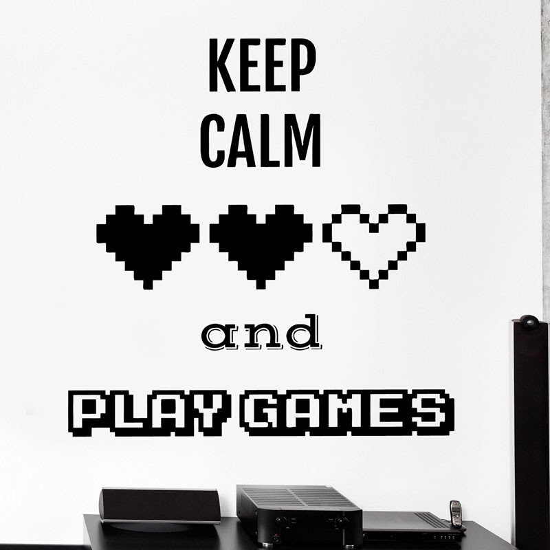 Dctal Video Game Sticker Play Decal Gaming Posters Gamer Vinyl Wall