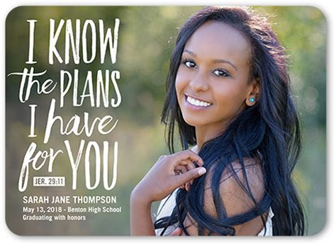 Plans And Dreams 5x7 Graduation Announcements Cards