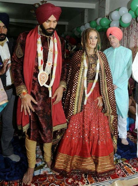 Pictures from Yuvraj Singh and Hazel Keech's wedding