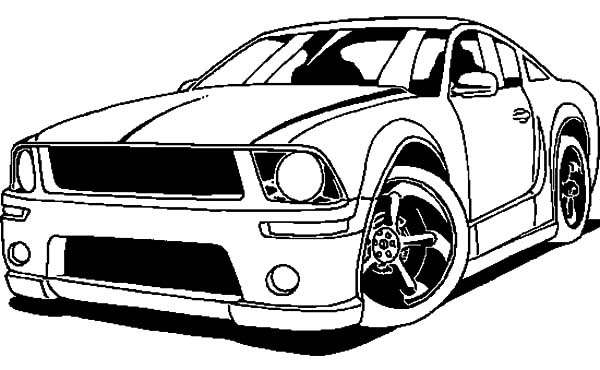 2006 Ford Mustang Car Coloring Pages | Best Place to Color